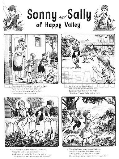 Sonny and Sally. Comic strip from Playhour, 7 July 1956.