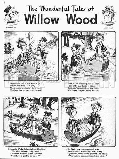 Willow Wood. Comic strip from Playhour 7 July 1956.