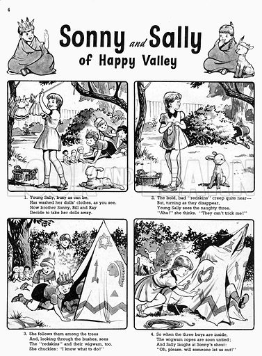Sonny and Sally. Comic strip from Playhour, 14 July 1956.