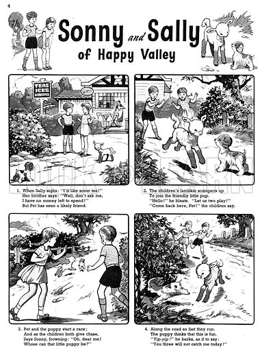 Sonny and Sally. Comic strip from Playhour, 21 July 1956.
