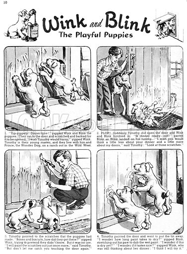 Wink and Blink. Comic strip from Playhour, 24 November 1956.