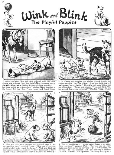 Wink and Blink. Comic strip from Playhour, 1 December 1956.