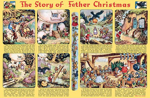Norman Gnome: The Story of Father Christmas. Comic strip from Playhour, 7 December 1957.