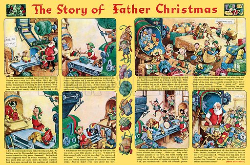Norman Gnome: The Story of Father Christmas. Comic strip from Playhour, 14 December 1957.