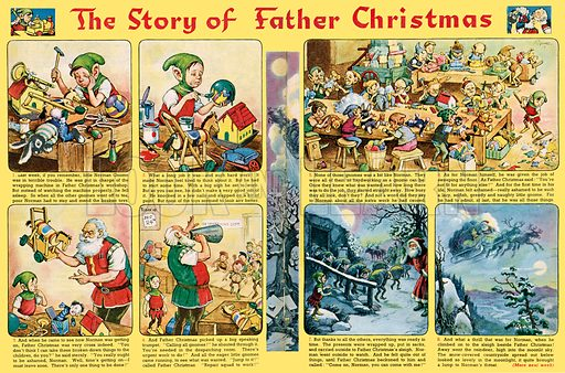 Norman Gnome: The Story of Father Christmas. Comic strip from Playhour, 21 December 1957.