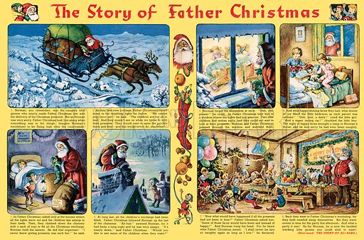 Norman Gnome: The Story of Father Christmas. Comic strip from Playhour, 28 December 1957.