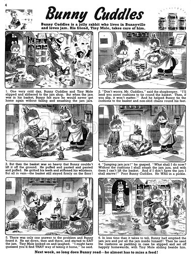 Bunny Cuddles. Comic strip from Playhour, 31 January 1959.