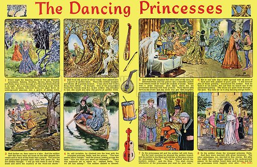 The Dancing Princesses. Comic strip from Playhour (1959).