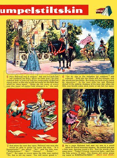 The Story of Rumpelstiltskin. Comic strip from Playhour (1959).