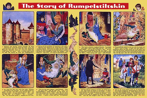 The Story of Rumpelstiltskin. Comic strip from Playhour (1959).