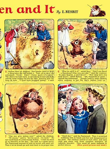Five Children and It. Comic strip from Playhour (1959).