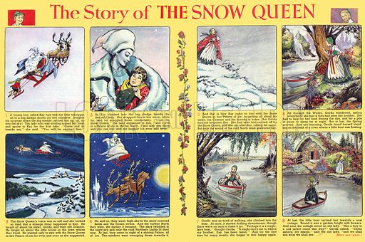 The Story of the Snow Queen. Comic strip from Playhour (1959–60).