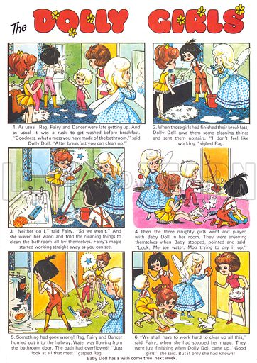 The Dolly Girls. Comic strip from Playhour, 10 July 1976.