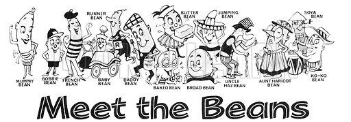 Meet the Beans. Comic strip from Playhour, 31 July 1976.