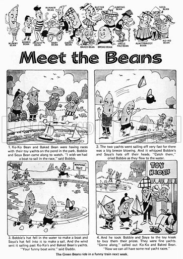 Meet the Beans. Comic strip from Playhour, 7 August 1976.