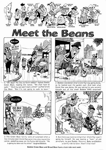 Meet the Beans. Comic strip from Playhour, 14 August 1976.