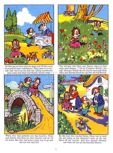 Mimi and Marmy. Comic strip from Playhour Annual 1957.