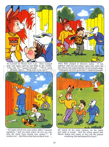 Billy Brock. Comic strip from Playhour Annual 1957.