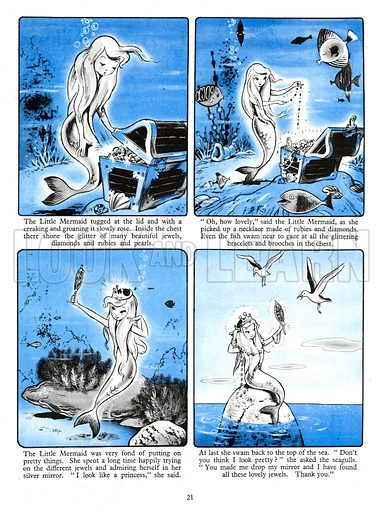 The Little Mermaid. Comic strip from Playhour Annual 1957.