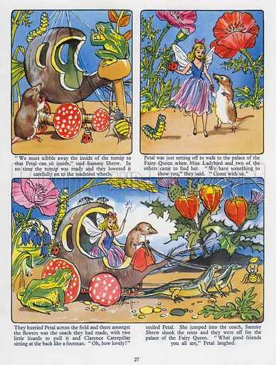 Petal's Midsummer Day. Comic strip from Playhour Annual 1957.
