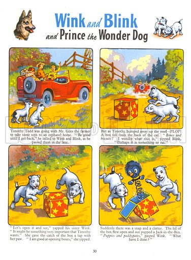 Wink and Blink. Comic strip from Playhour Annual 1957.