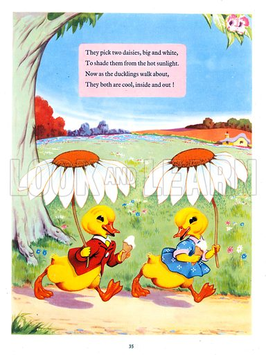 Dicky and Dolly. Comic strip from Playhour Annual 1957.
