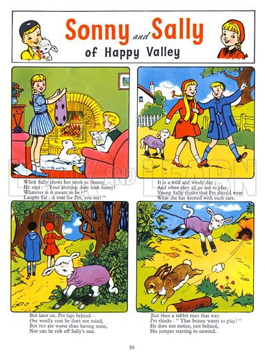Sonny and Sally. Comic strip from Playhour Annual 1957.
