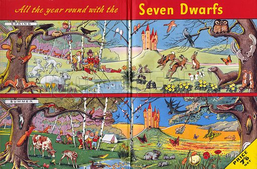 All Year Round with the Seven Dwarfs. Feature from Playhour Annual 1957.