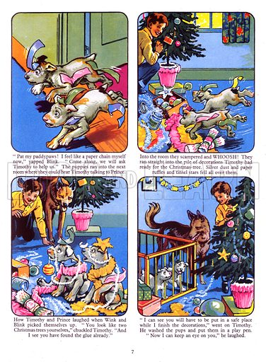 Wink and Blink. Comic strip from Playhour Annual 1958.