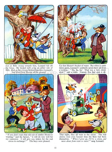 Billy Brock. Comic strip from Playhour Annual 1958.