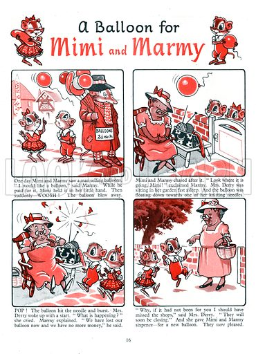 Mimi and Marmy. Comic strip from Playhour Annual 1958.