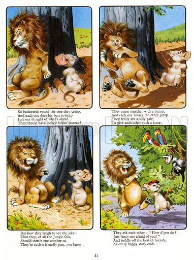 Leo the Friendly Lion. From Playhour Annual 1957.