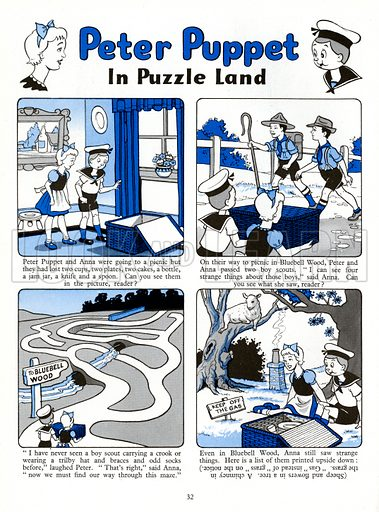 Peter Puppet. Comic strip from Playhour Annual 1958.