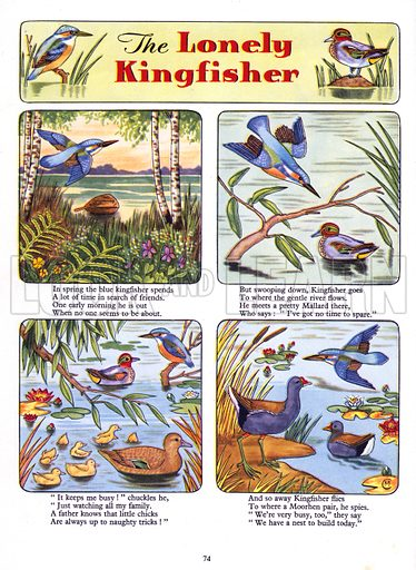 The Lonely Kingfisher. Comic strip from Playhour Annual 1959.