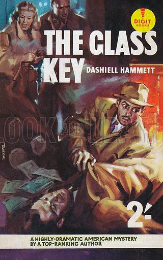 picture, Enrico De Seta, painter, cartoonist, Dashiell Hammett, Glas Key