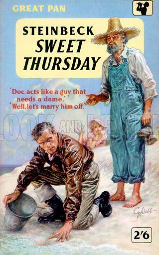 Sweet Thursday by John Steinbeck, Pan Book GP92, 1958.