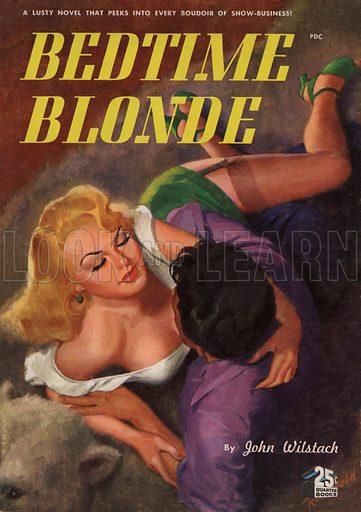 Bedtime Blonde. Pulp fiction cover.