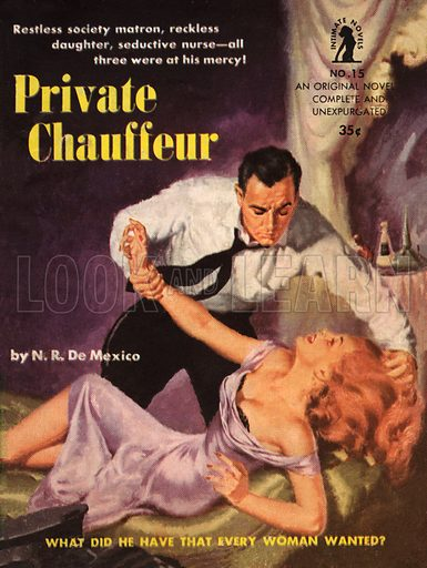 Private Chauffeur. Pulp fiction cover.