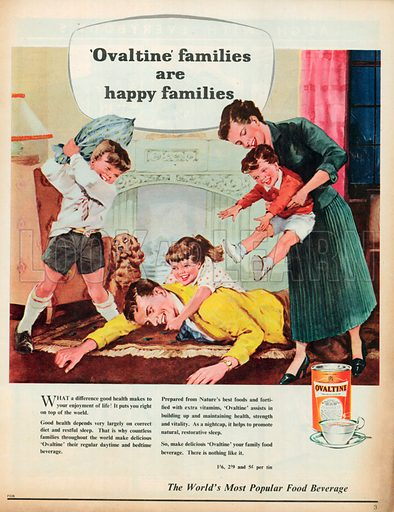 Ovaltine Advertisement, 1958.