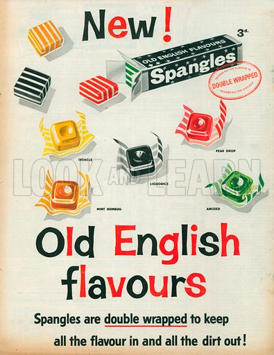 Spangles Advertisement, 1958.