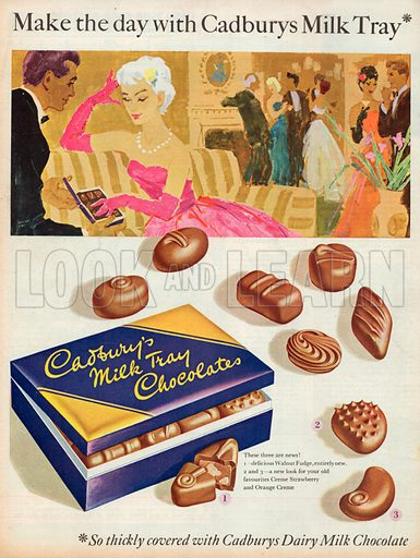 Cadbury's Milk Tray Chocolates Advertisement, 1958.