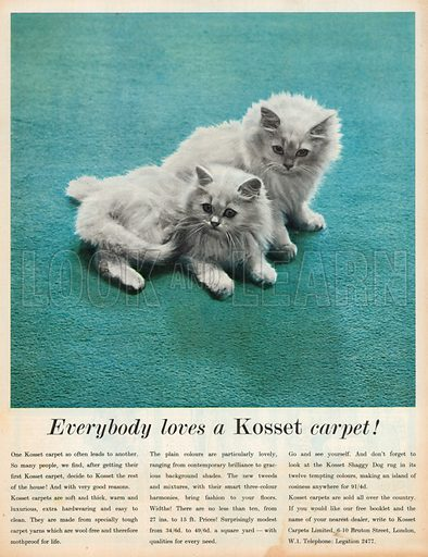 Kosset Carpet Advertisement, 1958.