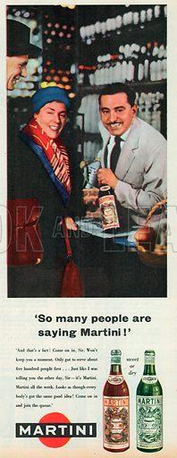 Martini Advertisement, 1958.