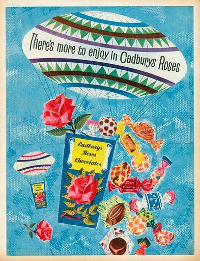 Cadburys Roses Chocolates Advertisement, 1958.