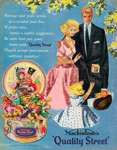 Mackintosh's Quality Street Advertisement, 1958.