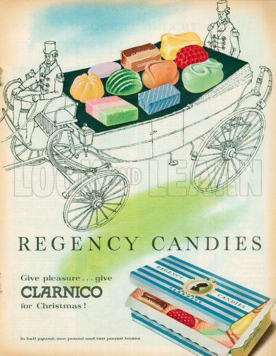 Regency Candies Advertisements, 1957.