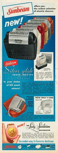 Sunbean Silver Glide Shave Master Advertisement, 1958.