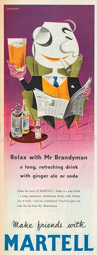 Martell Advertisement, 1957.