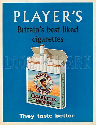 Player's Navy Cut Cigarettes Advertisement, 1959.