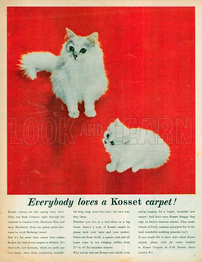 Kosset Carpet Advertisement, 1959.